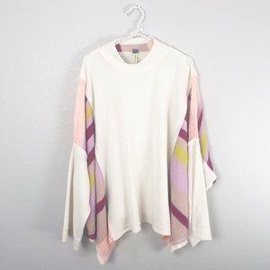 Free People Poncho Sweater sz L